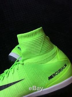 Mens Nike MercurialX Proximo II DF TF Turf Electric Green 831977-308 Size 10