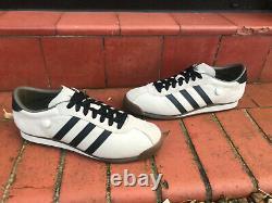 Mens Shoes ADIDAS VINTAGE TURF Trainers Leather Premium Retro Chile 62 UK 11