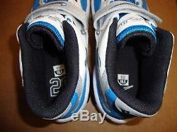 NEW Nike 644104-100 Air Zoom Turf Barry Sanders Shoes White Blue Mens Size 10.5