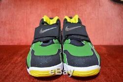 NEW Nike Air Oregon Ducks Diamond Turf Shoes Mens Size 10 Green/YellowithBlack