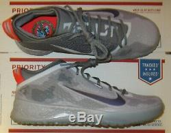 NEW Nike Force Zoom Mike Trout 5 MIV Men Turf Shoes, Grey, AT3202-002, Sz 11.5