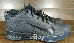 NEW Nike Force Zoom Trout 5 Turf Men11 Triple Black Baseball Shoes AH3374-002