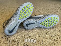 NEW Nike Silver Gray Alpha Huarache Elite 6 LAX Men TURF Lacrosse Shoe Size 10.5