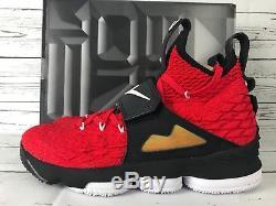 NIB Nike LeBron 15 XV Red Diamond Turf Prime Deion Sanders Mens 9.5 Shoes