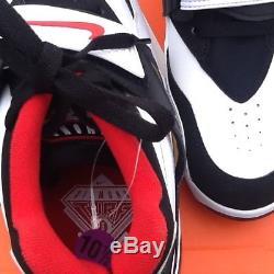 NIKE AIR DIAMOND TURF 309434-105 White Sport Red Men's Shoe BRAND NEW size 8.5