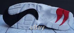 NIKE AIR DIAMOND TURF 309434-105 White Sport Red Men's Shoe Size 8.5