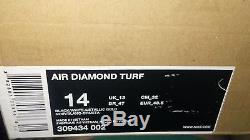 NIKE AIR DIAMOND TURF Deion Sanders PRIME TIME BLACK SNEAKER/SHOES MENS 14