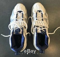 NIKE AIR DT 5 Deion Sneakers Shoes White Navy Silver Size 12 Dead Stock Turf Max