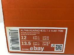 NIKE ALPHA HUARACHE ELITE 3 TURF PRM BASEBALL SHOES WHITE GOLD CV3561 101 sz 12