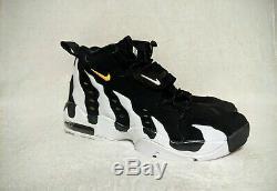 NIKE Air Diamond Turf Max'96 Mens BLACK/V-MAIZE/WHITE Athletic Shoe Size 9.5