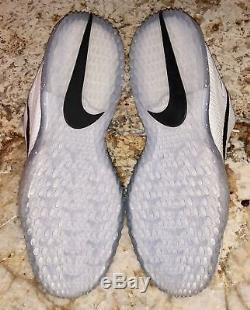 NIKE Air Zoom Trout 3 White Irid Black Baseball Softball Turf Shoes NEW Men 10.5