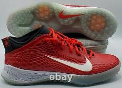 NIKE FORCE ZOOM Mike TROUT 5 SHOE AH3374-601 MENS SIZE 12 Red Turf Gym NEW
