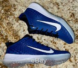 NIKE Force Zoom Trout 5 Royal Blue Black White Turf Baseball Shoes NEW Mens 14