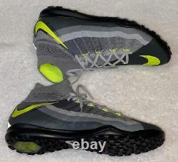 NIKE HypervenomX Proximo II DF Grey Black Volt Turf Soccer Shoes Mens 8.5 9.5