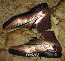 NIKE HypervenomX Proximo II TF Bronze Black Turf Soccer Shoes Cleat NEW Mens 9.5