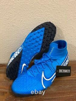NIKE Mercurial Superfly 7 Elite TF Turf Soccer Shoes Blue AT7981-414 Mens 9