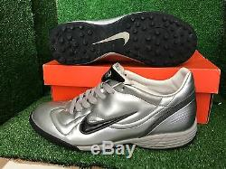 NIKE R9 Silver VAPOR INDOOR TURF TRAINERS SOCCER SHOES 9 10