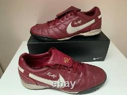 NIKE TIEMPO Turf Indoor R10 RONALDINHO Gold SOCCER SHOES Size 11,5 12,5 47