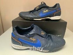 NIKE TIEMPO Turf R10 RONALDINHO Gold Indoor Trainers boots Size 9,5 10,5 44,5