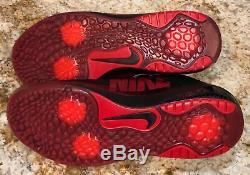 NIKE Trout 4 Turf Baseball Cleats Shoes Black Metallic Red New Mens Sz 8 9.5 10