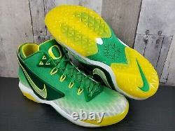 NIKE Zoom Field General Football Turf Shoes 10.5 Oregon Ducks Green 654859-371