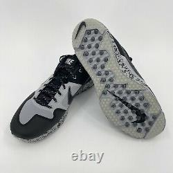 NWOB Nike Alpha Huarache Elite 2 Turf Baseball Shoes Black AV2472-001 Mens 13