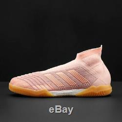 New Adidas Predator Tango 18+ IN Indoor Soccer Shoes Turf Primeknit Pink-Orange