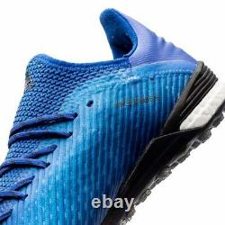 New Adidas X 19.1 TF Turf Soccer Shoes Boost Artificial Grass Sz 9.5 Blue-White
