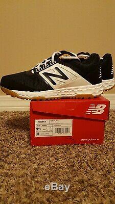 New Balance 3000v4 (T3000BK4) Men's Turf Baseball Shoes Black/White 9.5 WIDE