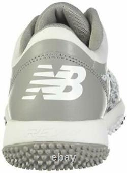 New Balance Men's 4040 V5 Turf Baseball Shoe Grey/White 10 M US