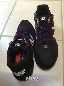 New Balance Mens 3000v4 Turf Baseball/Softball Shoes Black/Purple, New in box
