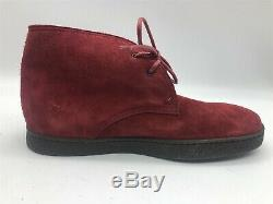 New John Lobb Mens Red Suede Turf Chukka Ankle Boots Debranded Shoes US 6 UK 5