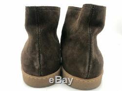 New John Lobb Turf Debranded Shoes Dark Brown Suede Ankle Boots US 6.5 UK 5.5