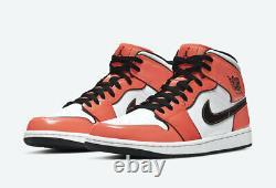 New Men's Nike Air Jordan 1 Mid Turf Orange Basketball Shoes Sz 10 dd6834-802