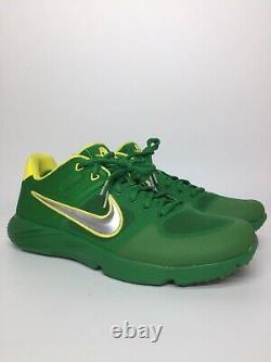 New Men's Nike Alpha Huarache Elite 2 Oregon Ducks Turf Shoes Size 11 CU0149-300