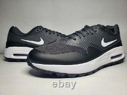 New (Men's Size 10.5) Nike Air Max 1 G Black White Turf Golf Shoes (CI7576-001)