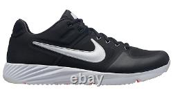 New! NIKE ALPHA HUARACHE ELITE 2 TURF 6877001 Black/White Training Shoes cd1
