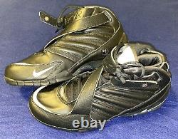 New NIKE MIKE VICK ZOOM III BLACKOUT Turf Shoes Mens 11.5 Black Football