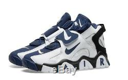 New Nike Air Barrage Mid White Midnight Navy Black AT7847-101 Mens Shoes c1