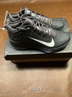 New Nike Force Zoom Trout 5 Baseball Turf Shoes SZ 101/2 Black