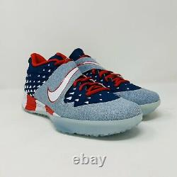 New Nike Force Zoom Trout 6 Turf PRM USA Flag Shoes AT3881-400 Size 11