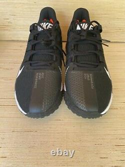 New Nike Force Zoom Trout 7 Turf Baseball Shoes Mens Size 13.5 Black