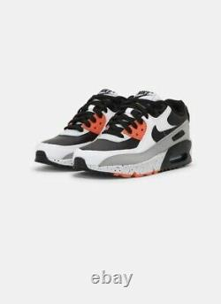 Nike AIR MAX 90 White/Black-Turf Orange Aqua Mens Shoes Size 8 DC9845 100