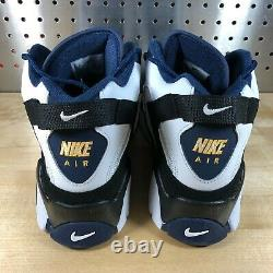 Nike Air Barrage Mid White Midnight Navy Sneakers Shoes AT7847-101 Men's Size 11