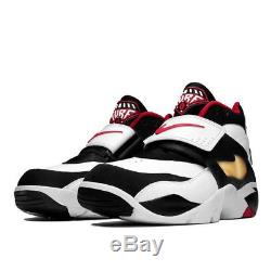 Nike Air Diamond Turf 309434-105 White Black Red Men's Size 7.5, 8