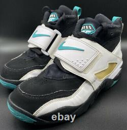 Nike Air Diamond Turf Emerald'Deion Sanders' Shoes 309434-013 Men Size 9