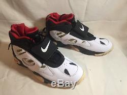 Nike Air Diamond Turf II Black/White/Gold Deion 487658-070 Sz11.5 Mens Sneakers