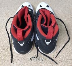 Nike Air Diamond Turf II Black/White/Gold Deion 487658-070 Sz12 Mens Sneakers
