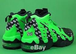 Nike Air Diamond Turf Max'96 Rage Green Black Basketball Shoes Size 10
