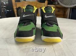 Nike Air Diamond Turf Oregon Ducks Shoes Size 13 Apple Green/Yellow 309434-302